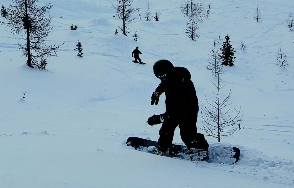 Review of Dolomites snowboarding holiday in Val Gardena off piste