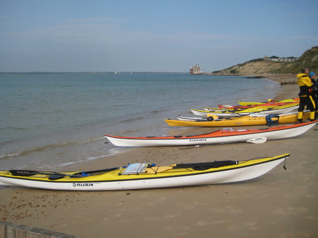11 best UK family adventures British activity holidays with kids flickr cc image of Colwell bay kayaking IOW by AndyRobertsPhotos