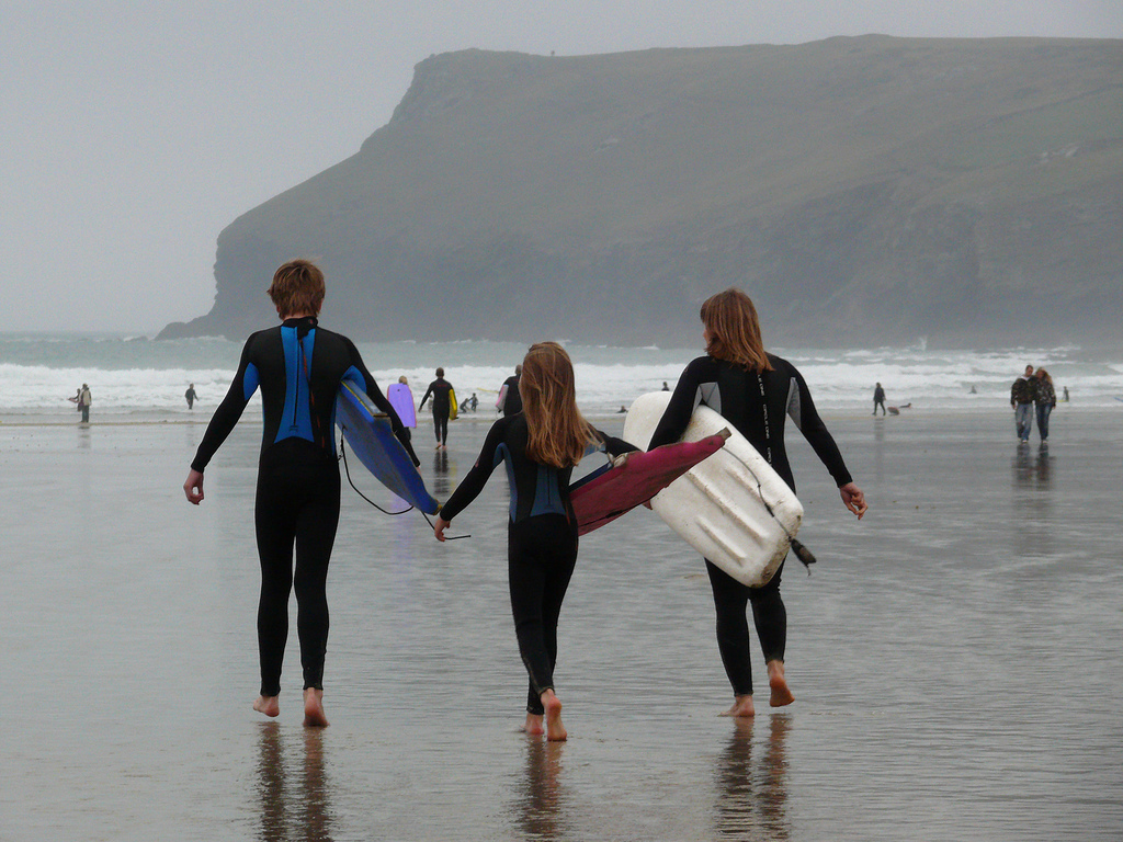 11 best UK family adventures British activity holidays with kids flickr cc image of cornwall bodyboarding by david__jones