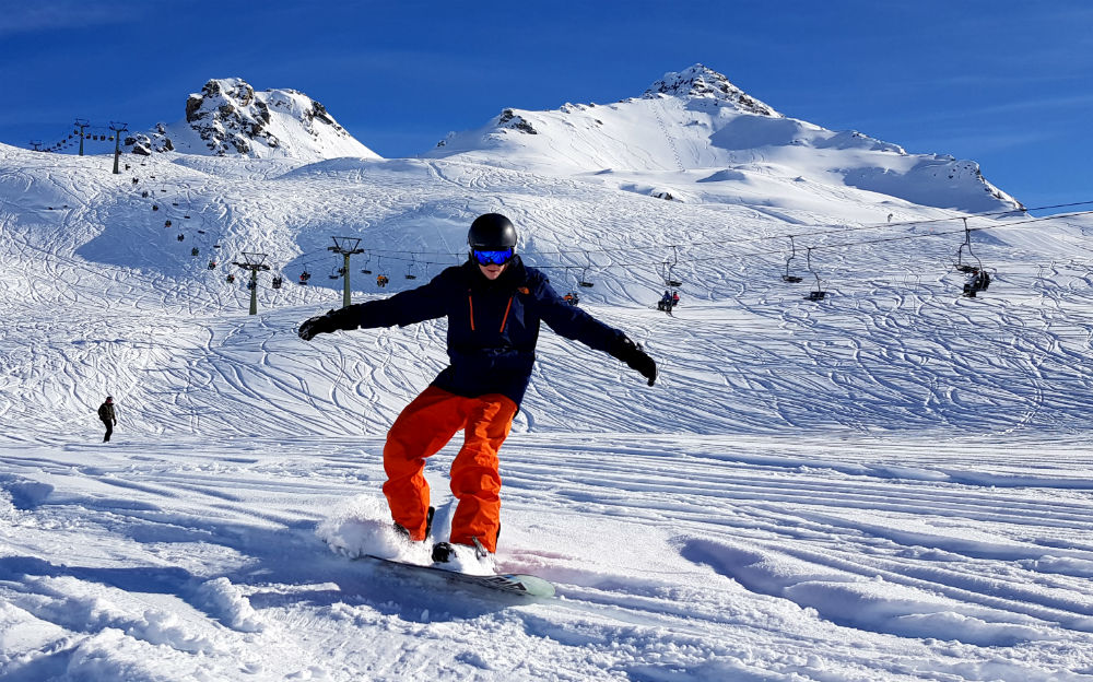 Review of Lowen Hotel in Schruns Montafon ski holiday in Austria snowboarding near Schruns