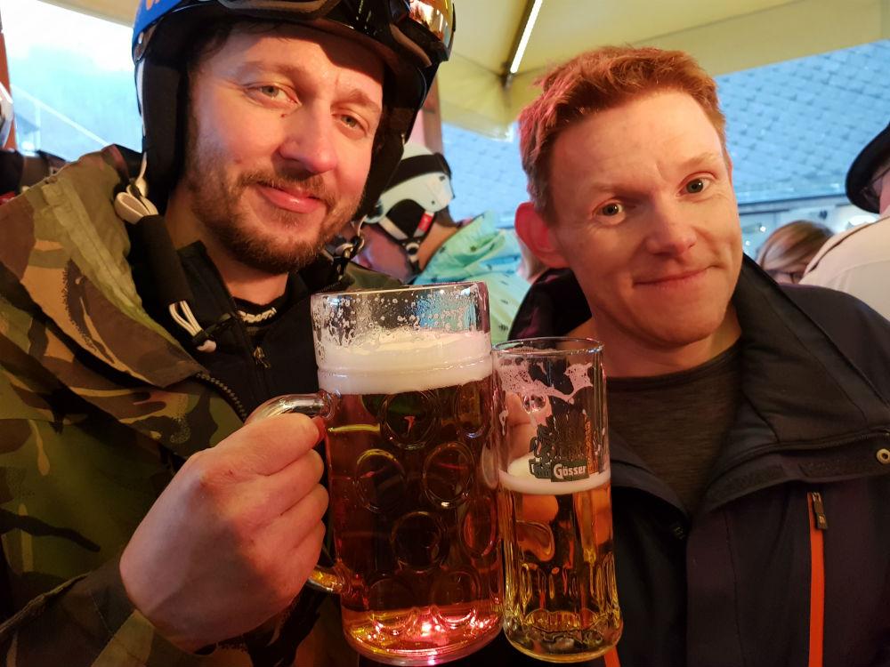 Review of Montafon snowboarding holiday in Schruns Austria apres