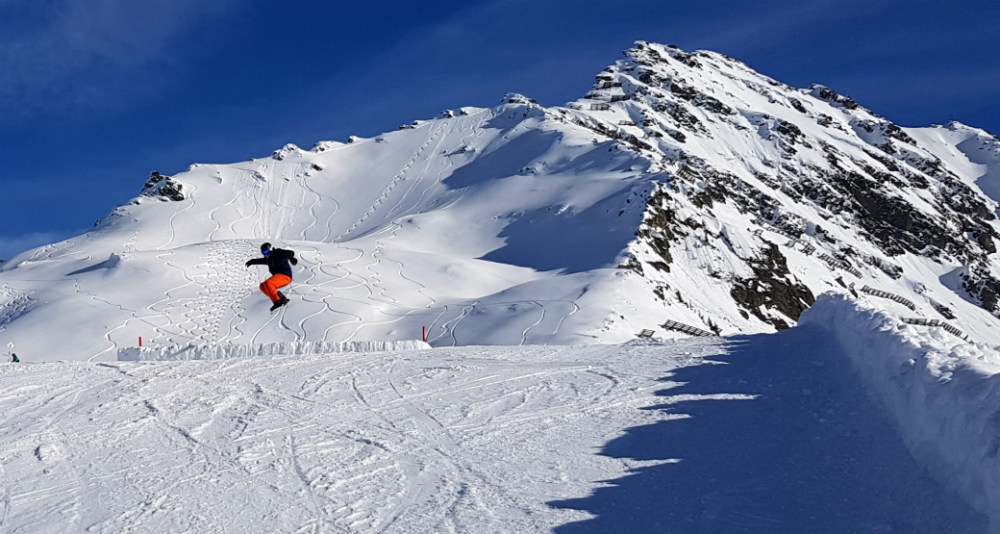 Review of Montafon snowboarding holiday in Schruns Austria freestyle
