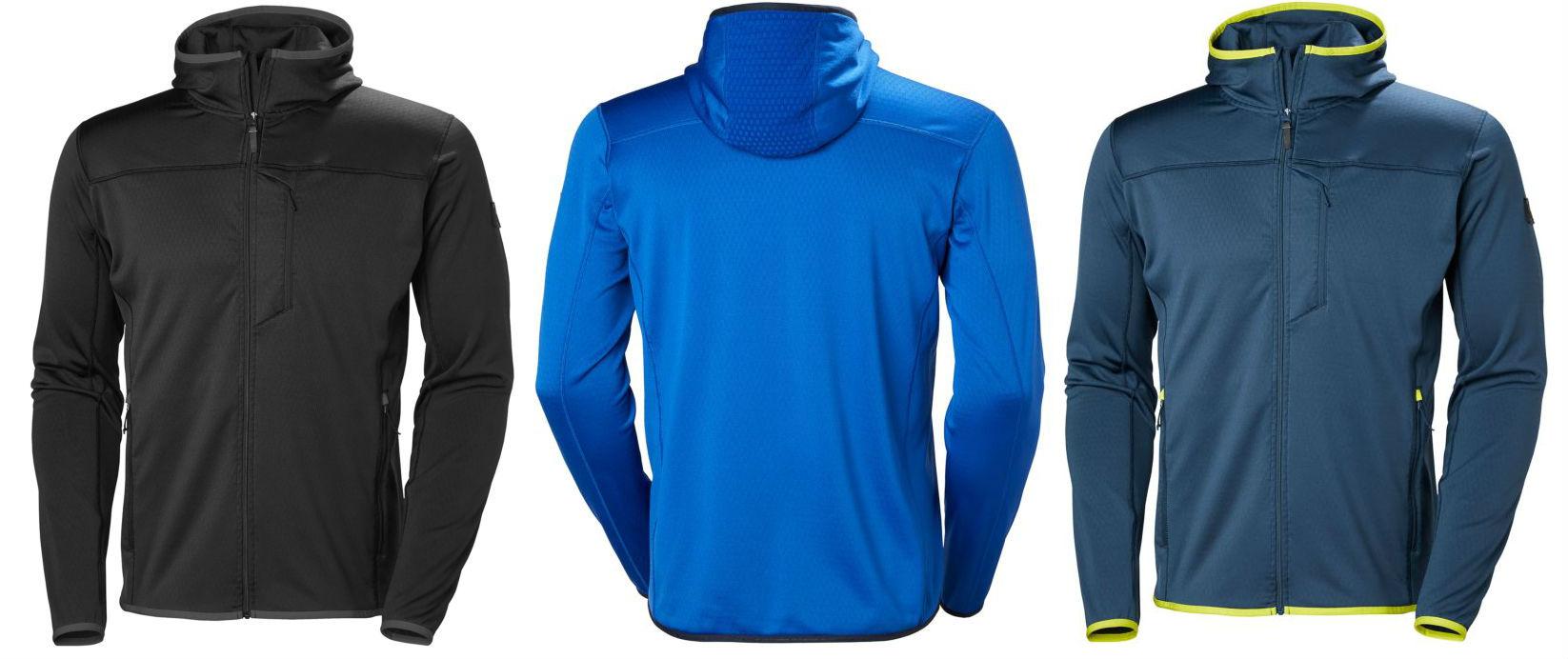 HELLY HANSEN Men/'s VERTEX Stretch Midlayer Fleece Jacket Classic Blue XL
