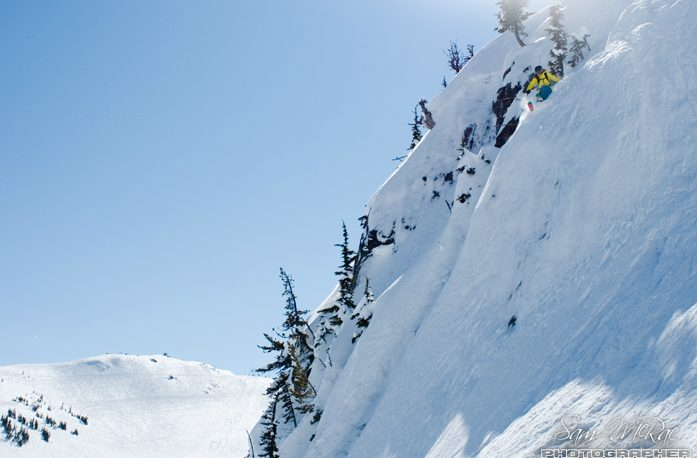 10 best freeride ski destinations worldwide Image of Rachel Findler in Whistler by Andrew Strain