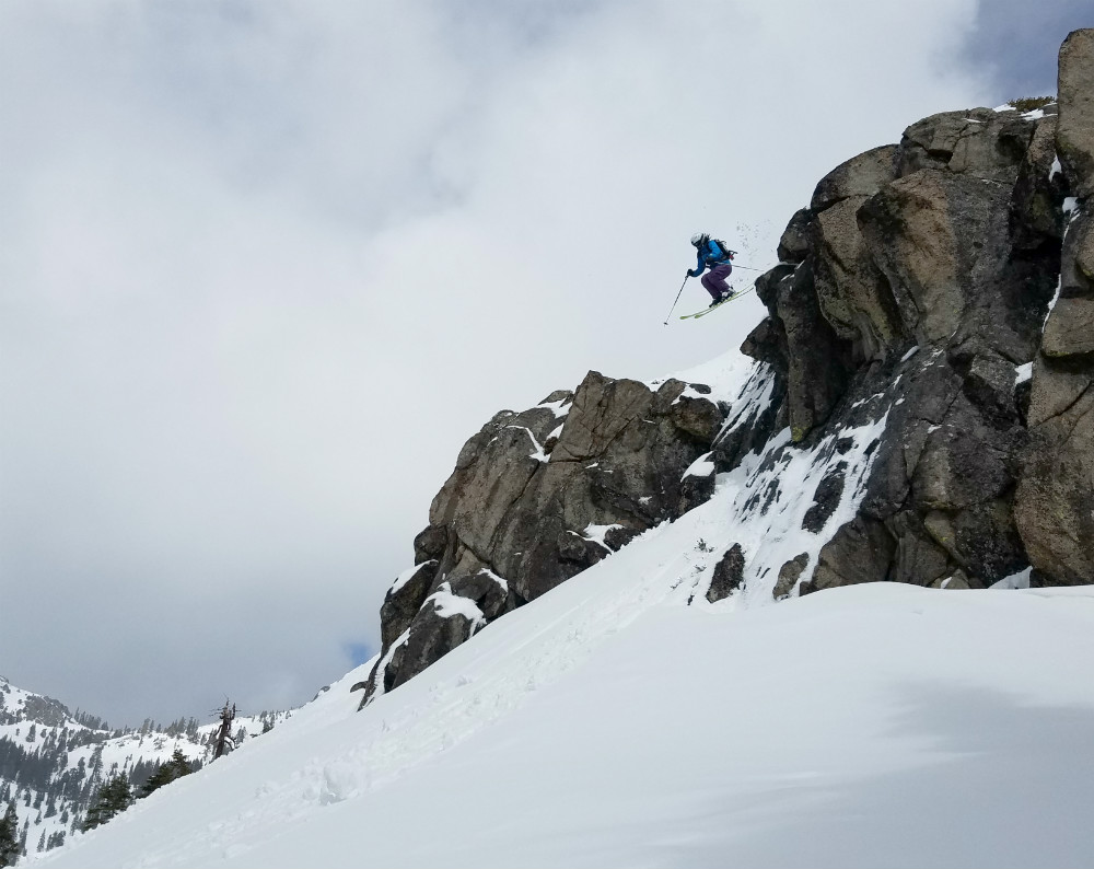 10 best freeride ski destinations worldwide Rachel Findler in Lake Tahoe Squaw Valley