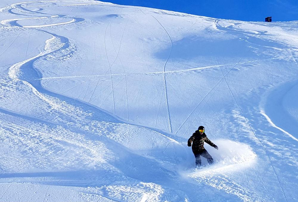 Review of Ischgl snowboarding in December Idjoch to Idalp