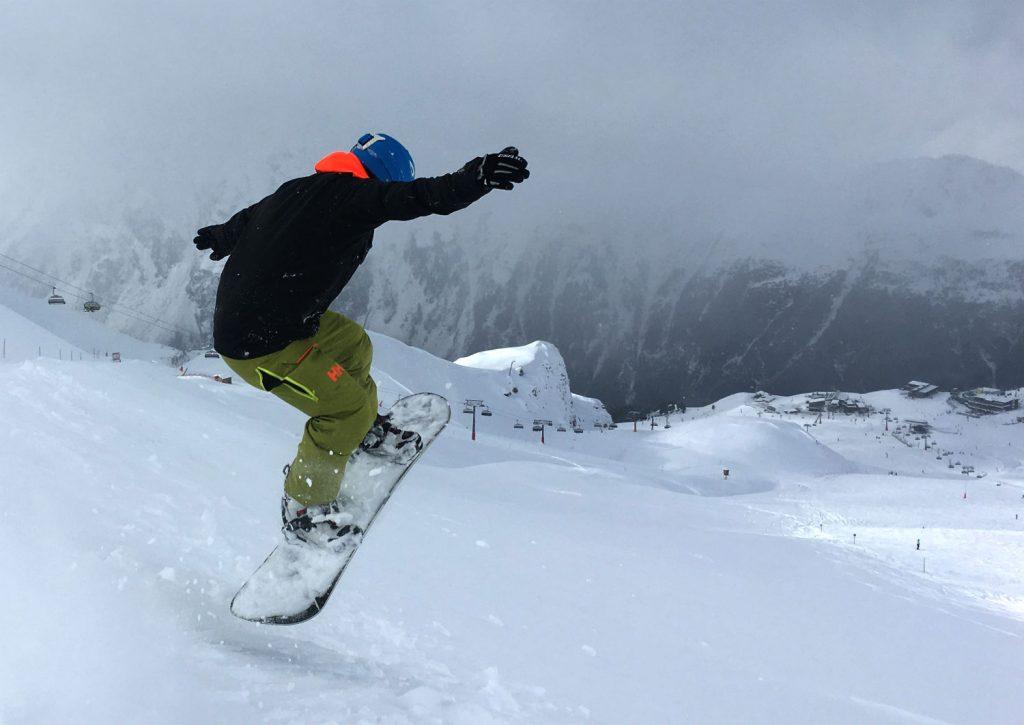 Review of Ischgl snowboarding in December day 3 near Idjoch