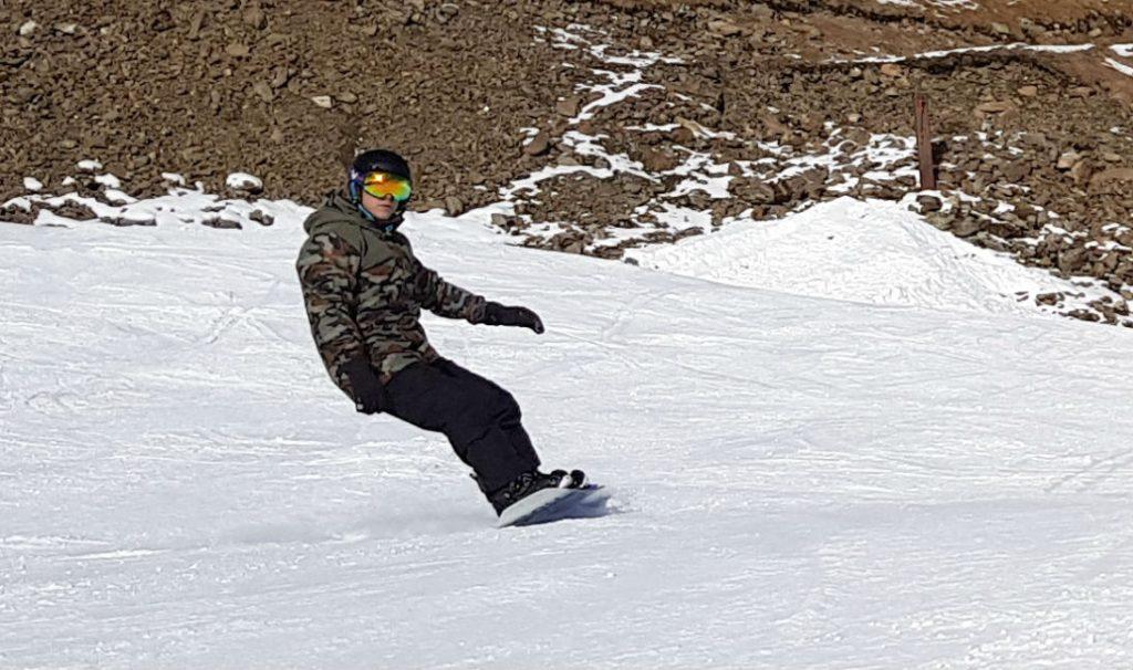 Review of Ischgl snowboarding in December top of Pardatschgrat to Idalp
