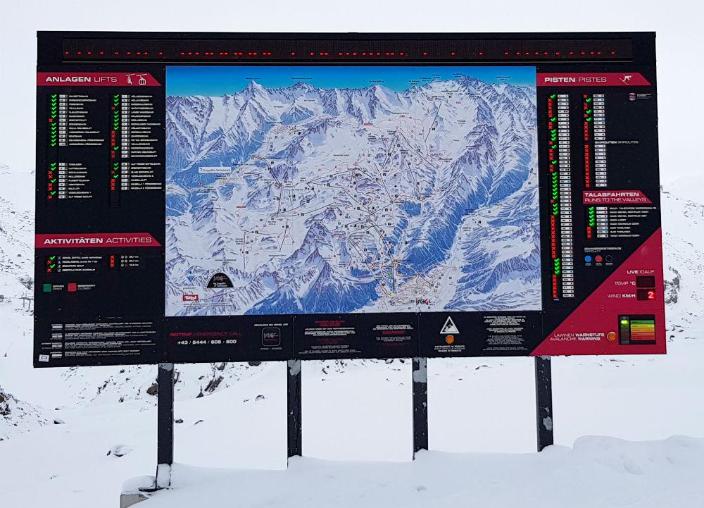 Silvretta Arena Ischgl and Samnaun open pistes 2 dec 2018
