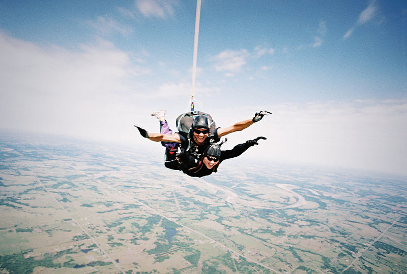 US Adventures 3 of the best adventure vacations in America Wiki commons image by skydiving!