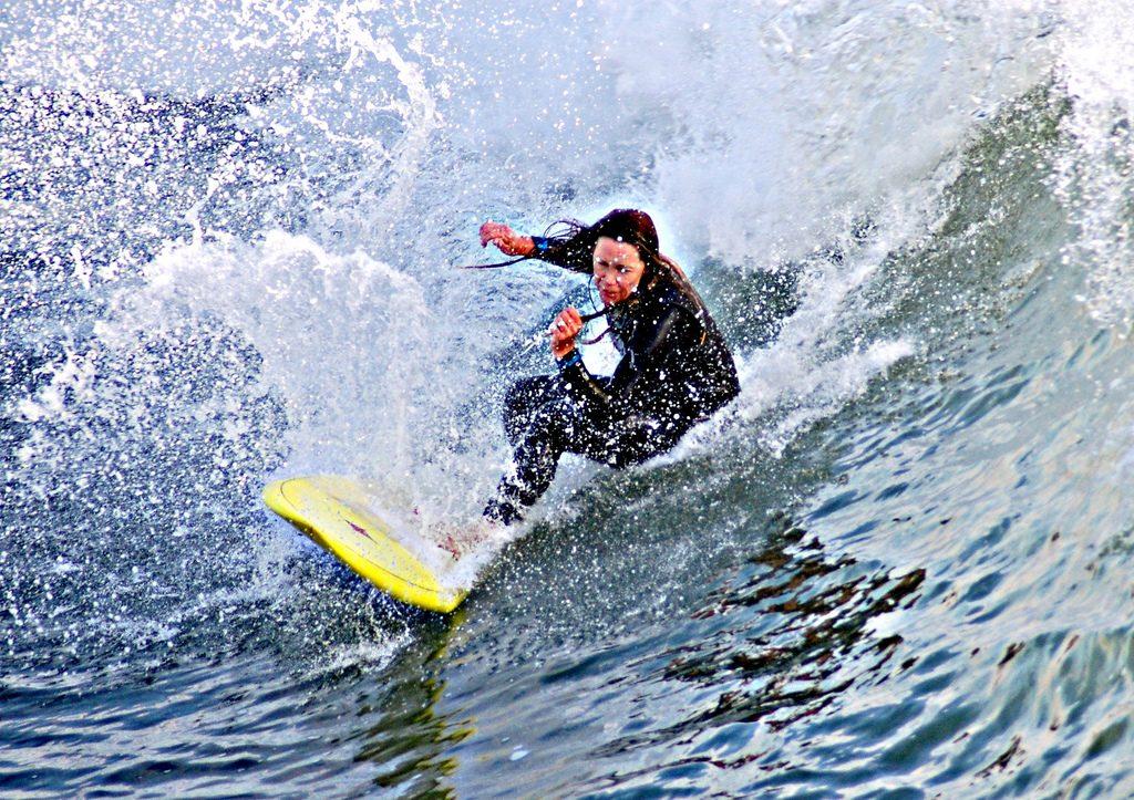Women surfing retreats 3 best female surf camps in North America flickr CC image by Hoggheff aka Hank Ashby aka Mr. Freshtags from Huntington beach California