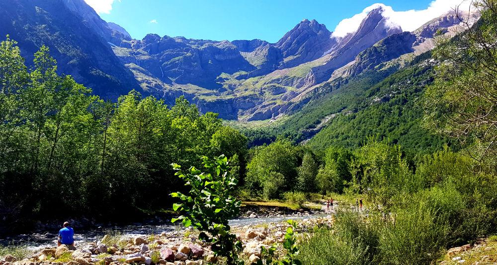 Camino a las Minas de Liena in Spain Pyrenees