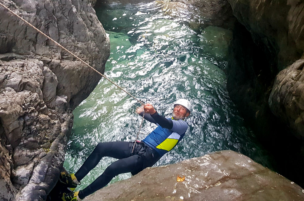 Canyoning in Spain  during French Pyrenees Multi activity summer mountain trip