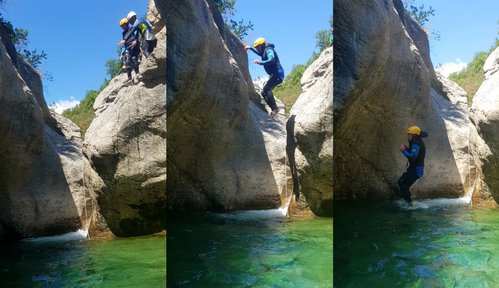 Canyoning in Spain on day 1 of Pyrenees adventure holiday review