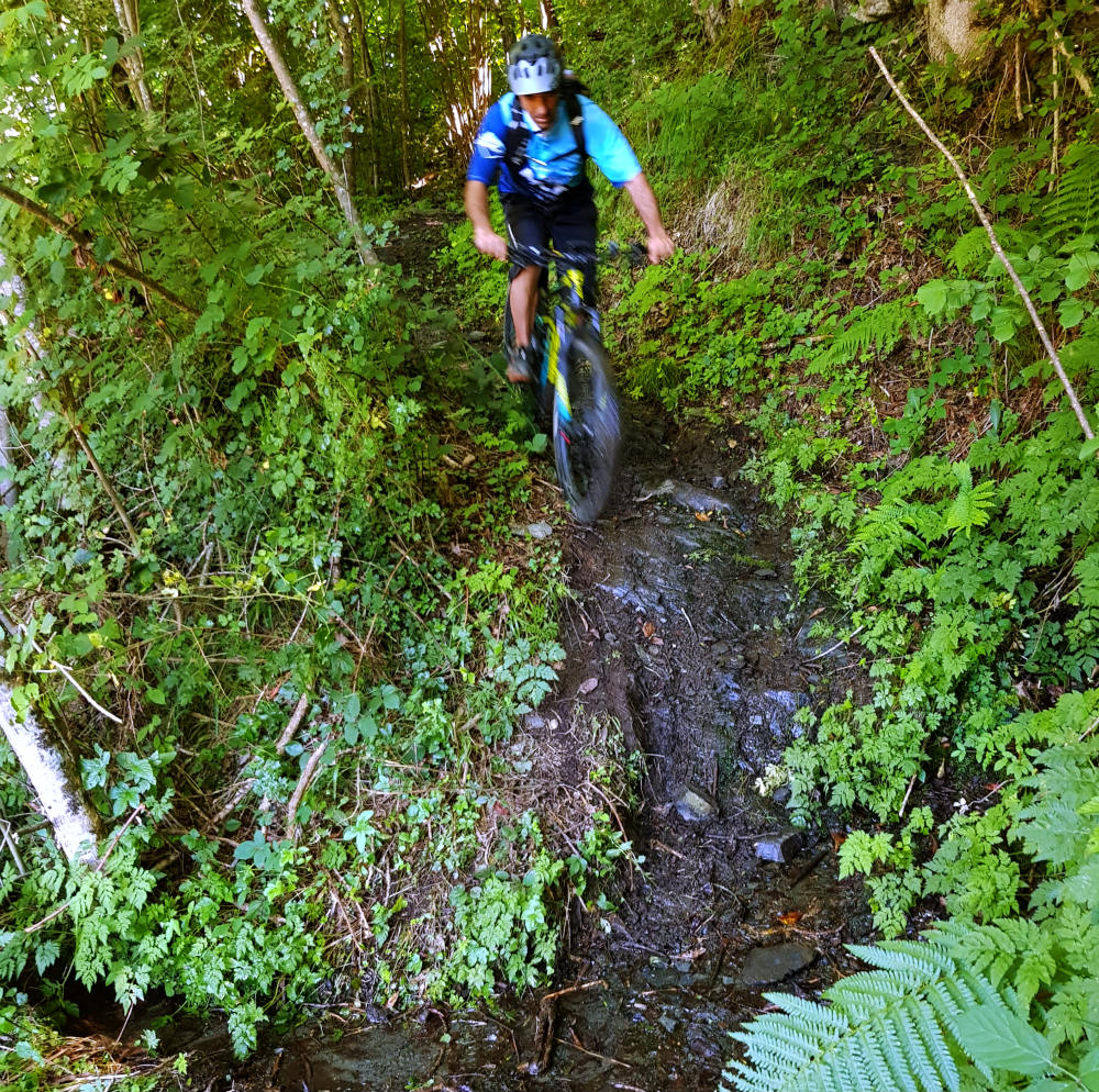 Electric Mountain Biking in Louron Valley during French Pyrenees Multi activity summer mountain trip