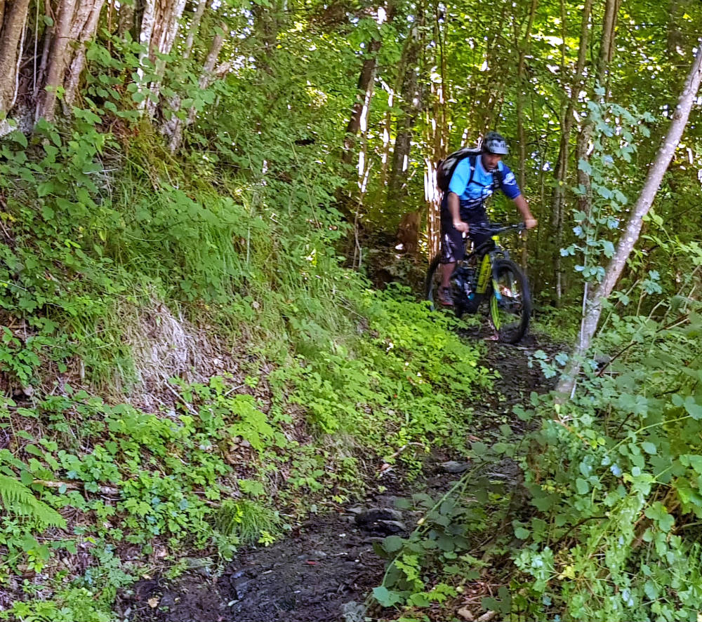 Mountain biking in Louron Valley during French Pyrenees adventure holiday review Multi activity summer mountain trip