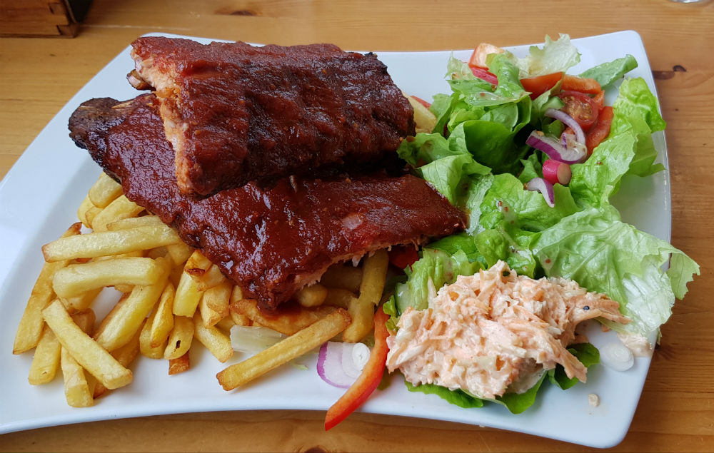 Ribs at the Grande Ourse Restaurant Les Gets
