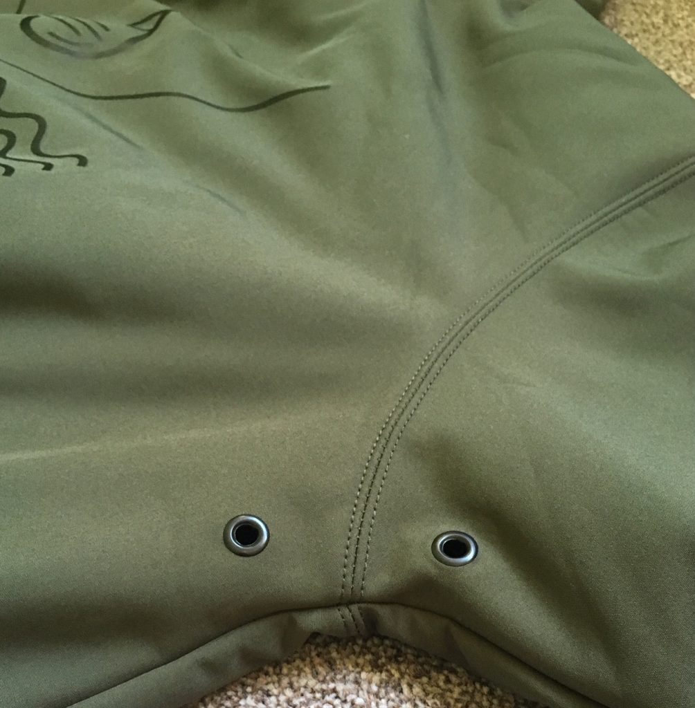 Review of the Shred Softshell Hoodie by British brand We Are Horizontal - vent holes