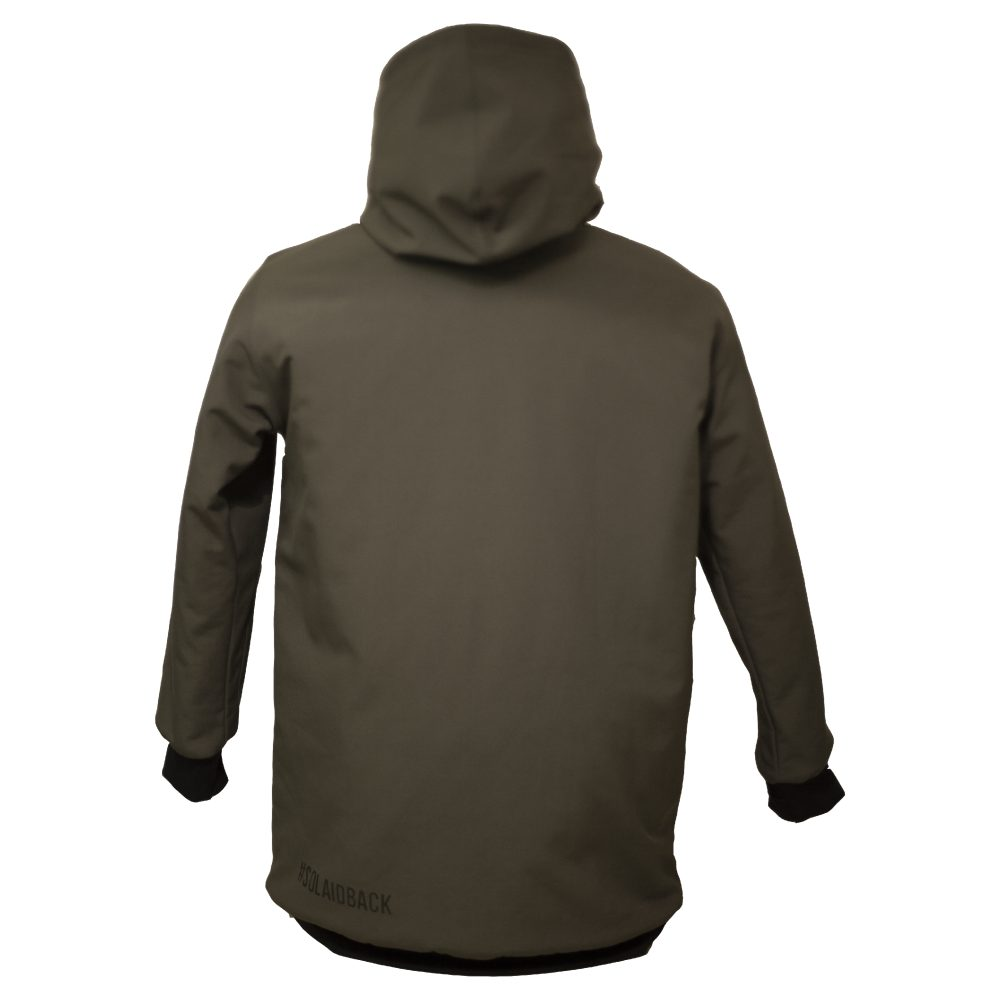 We are Horizontal - the shred softshell hoodie review - back