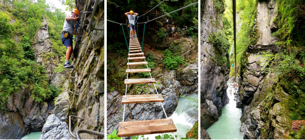 Ziplining Via Ferrata and Swing bridges with Luztyrolines in French Pyrenees