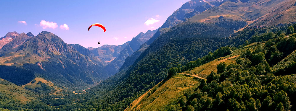 paragliding in Louron Valley during French Pyrenees adventure holiday review