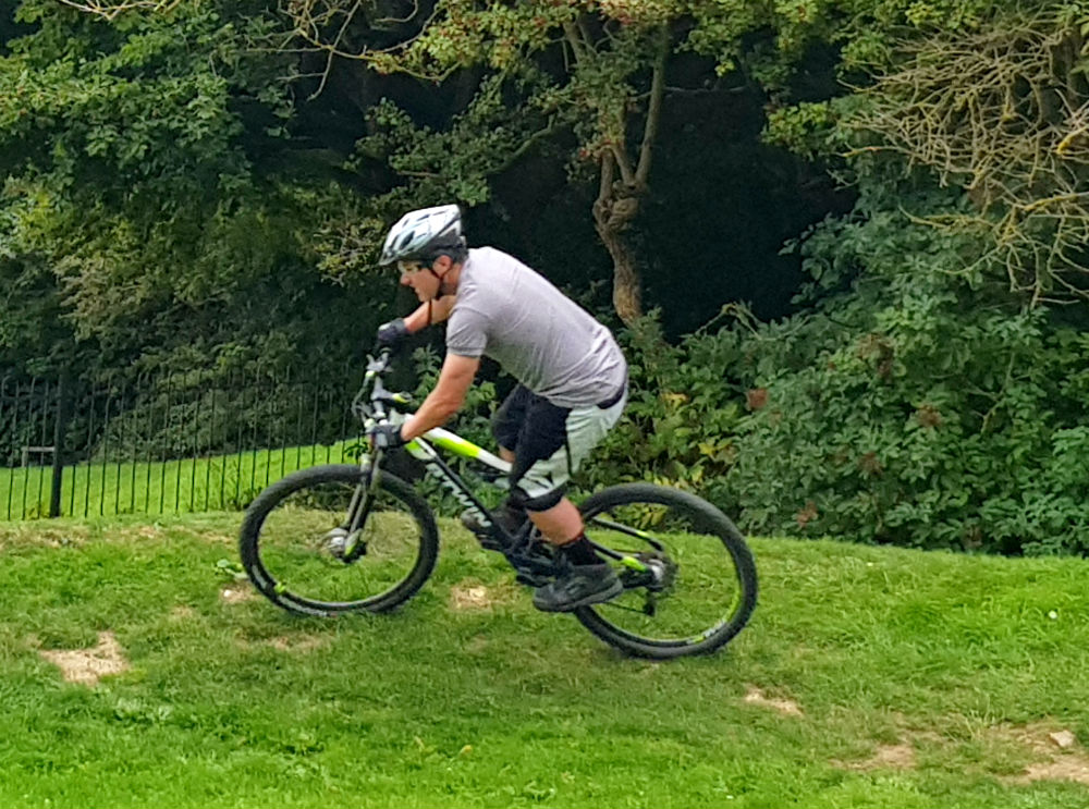 BTWIN Rockrider 560s at Newhaven pump track