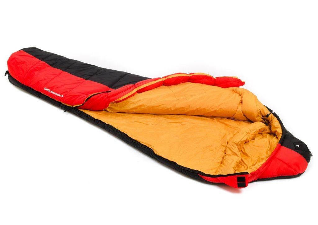 Snugpak Expansion 4 sleeping bag opened from left showing zip