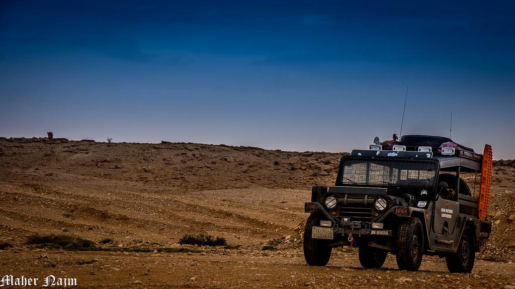 Travel vs Ethics in Saudi Arabia Flickr Public Domain image of 4x4 in desert by Maher Najm