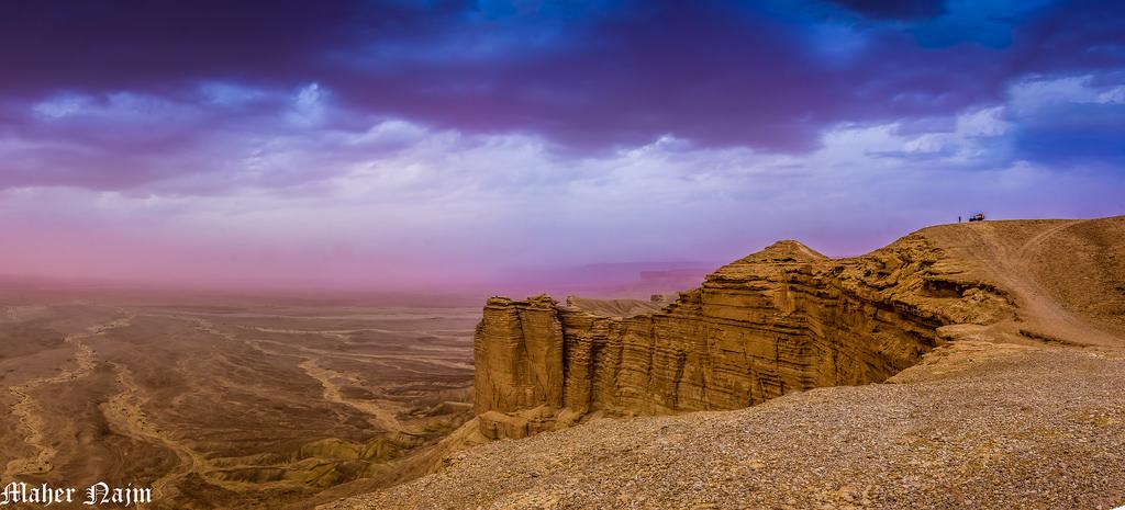 Travel vs Ethics in Saudi Arabia Flickr Public Domain image of Edge of The World desert by Maher Najm