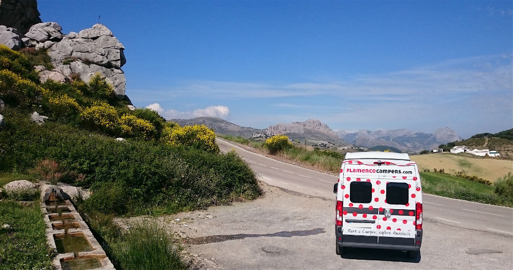 Adventure road trip Southern Spain multi activity campervan holidays Image from Flamenco Campers