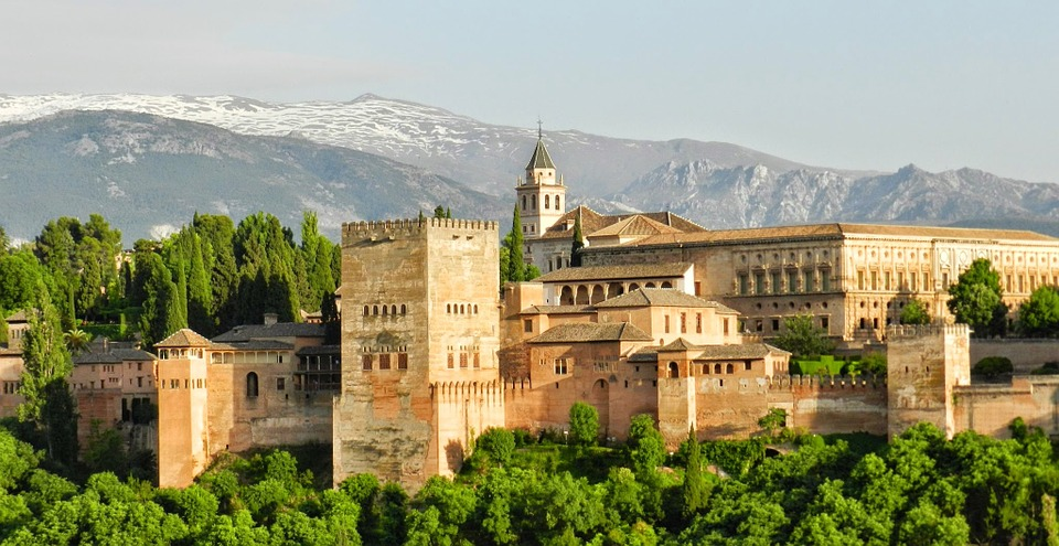 Alhambra Granada in Andalusia Spain. Pixabay royalty free image