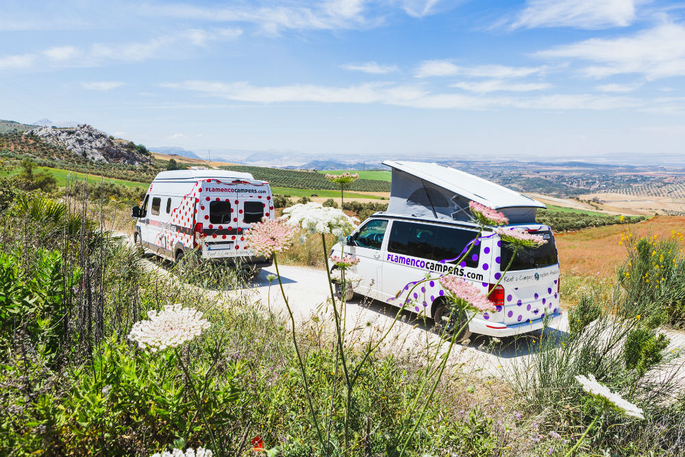 Road trip adventure campervan in Spain and Portugal Image from Flamenco Campers