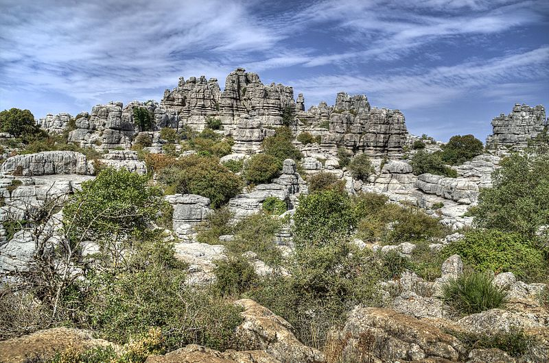 Torcal de Antequera in Andalusia Spain Wiki commons CC image by Angel M Felicisimo