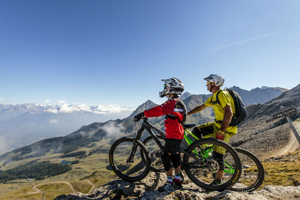 Alps MTB holidays in Italy Copyright VALLE D'AOSTA-Downhill Mountin biking Pila (foto Pila SpA)-04