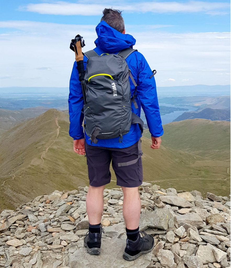 Review of Thule Stir 28L Versatile lightweight backpack on Helvellyn Lake District