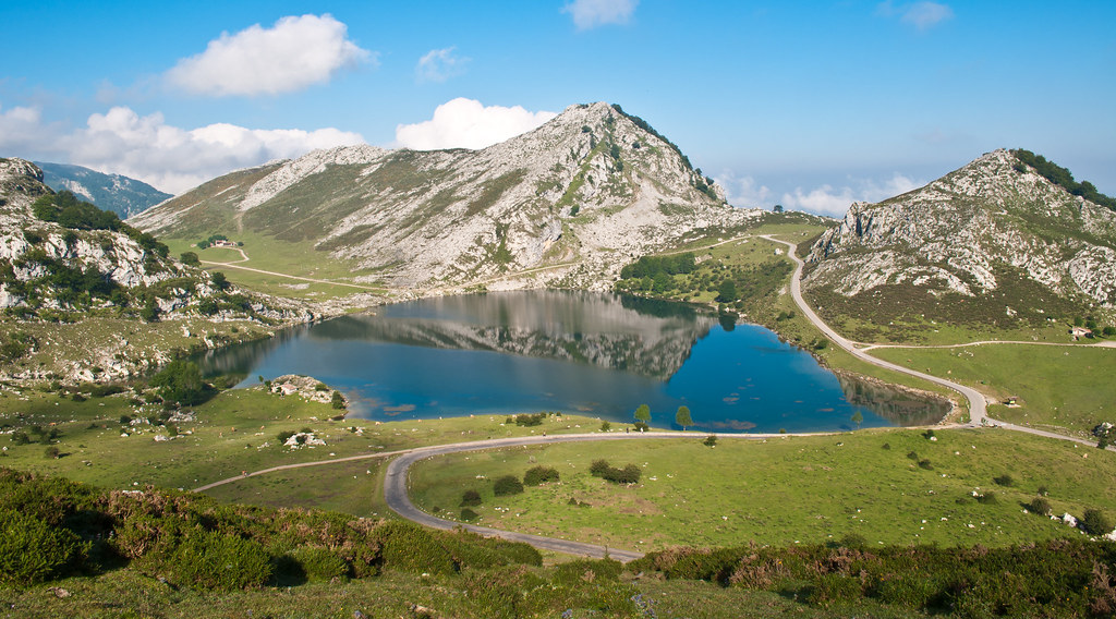 Lago Enol one of the most challenging rides for cyclists Lagos de Covadonga in Spain Flickr CC image by Tadhik
