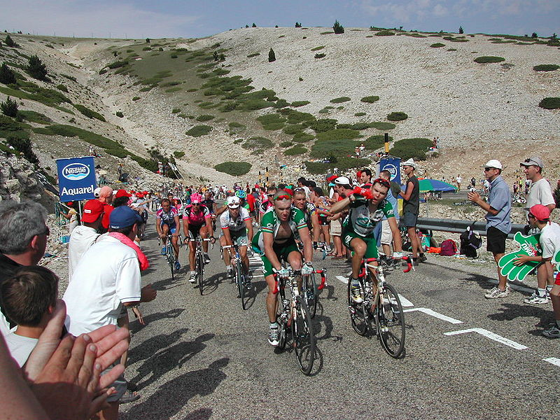toughest cycling climbs worldwide Mont Ventoux in France Wikimedia CC image by Christopher Voitus