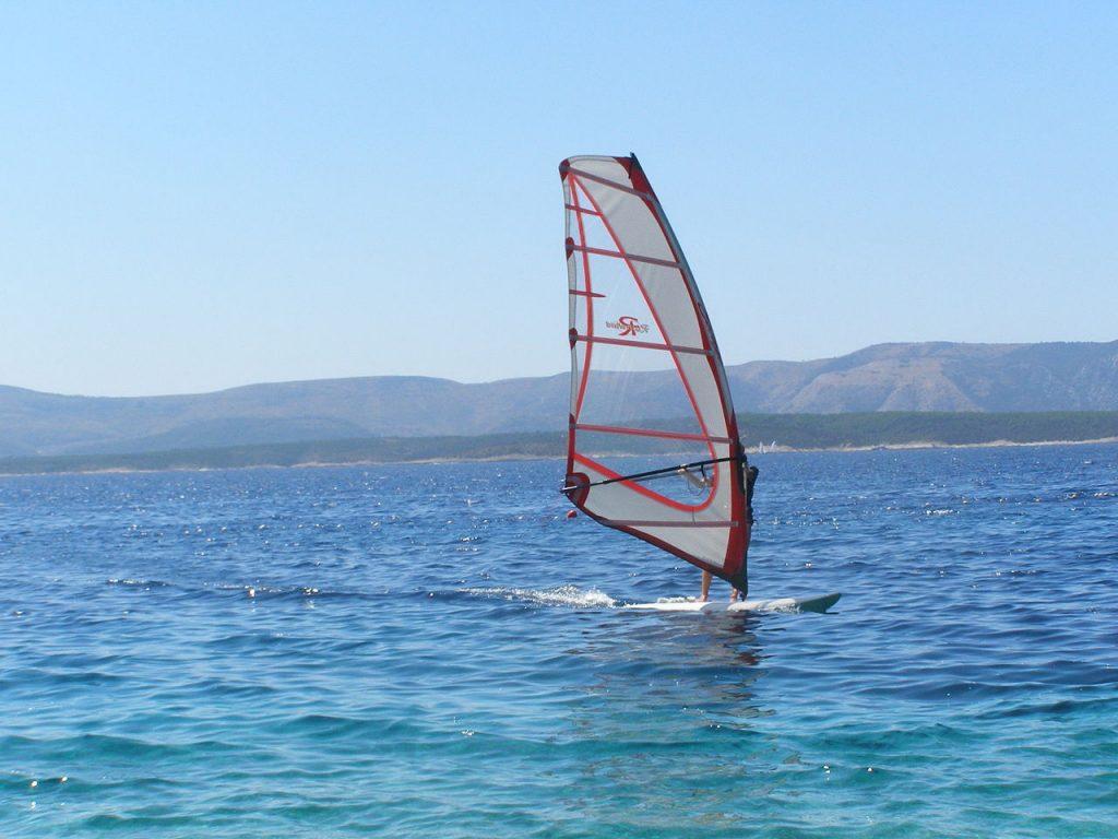 11 best places for European windsurf holidays wikicommons CC image of Murvica windSurfer, Brac in Croatia by Kelovy