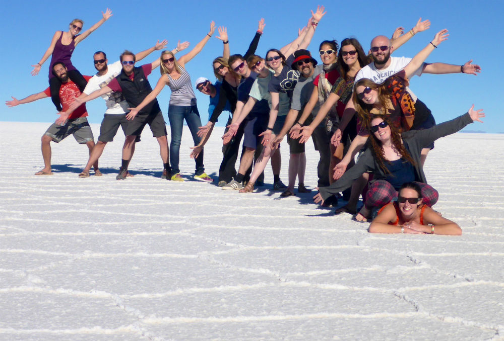 17 reasons group overland tours are the best for solo adventure travel Salt flats by Oasis Overland