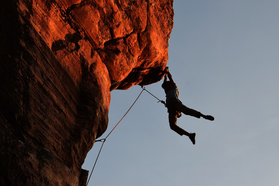 Making action sports better for the environment Pixabay royalty free image of climber
