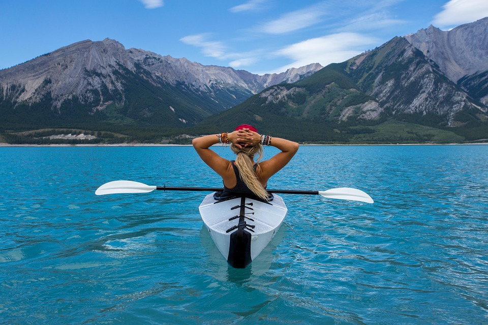 Making action sports better for the environment Pixabay royalty free image of kayaking in Canada