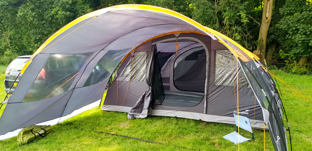 Skandika Gotland 6 review Easy to pitch large family tent with awning