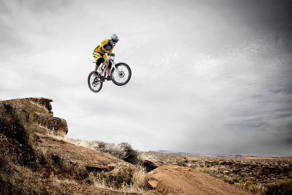 Recreate adventure sports holidays at home if you MTB then go Mountain biking Pixabay royalty free image from Utah