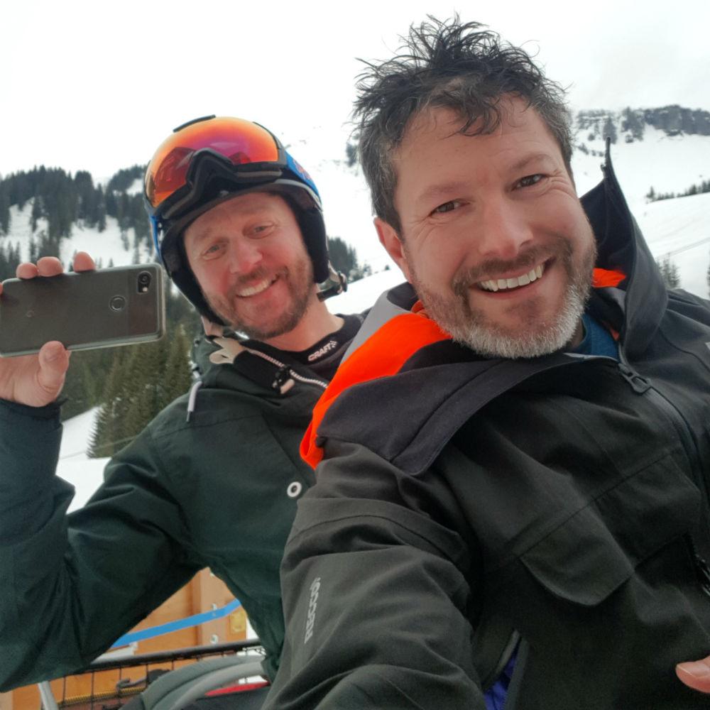 Snowmobile to Hotel Bergfrieden on Damuls-Mellau snowboarding holiday in Bregenzerwald Austria