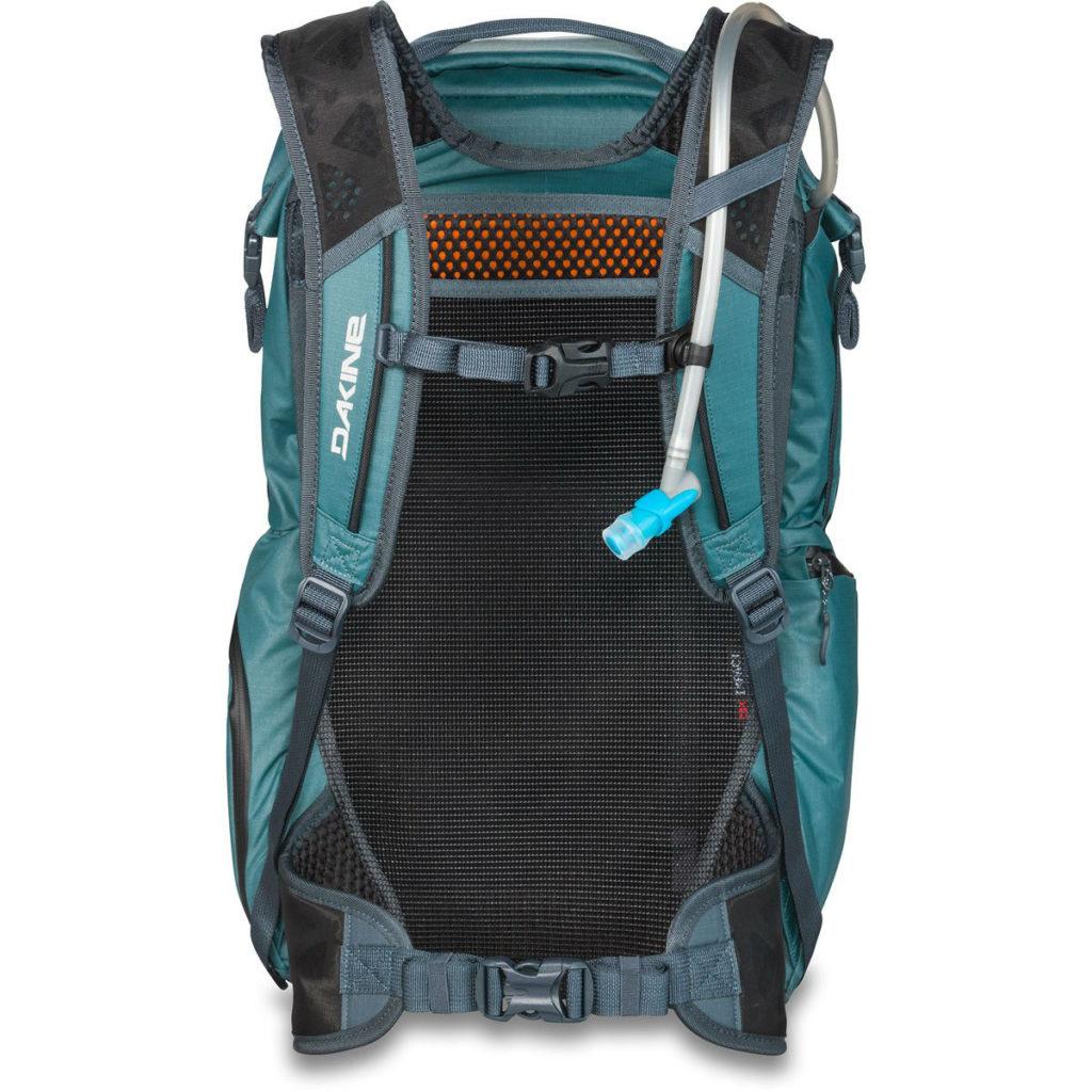Back of Dakine seeker 24L SLATE BLUE excellent MTB rucksack