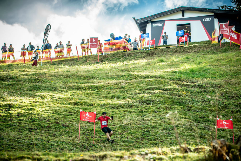 Run down Hahnenkamm in Kitzbuhel World's craziest trail running event ©Michael_Werlberger