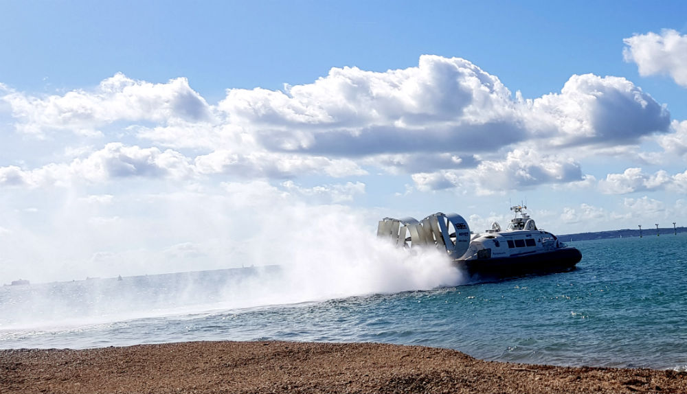 journeying to IOW adventure holidays in Sandown by hovercraft