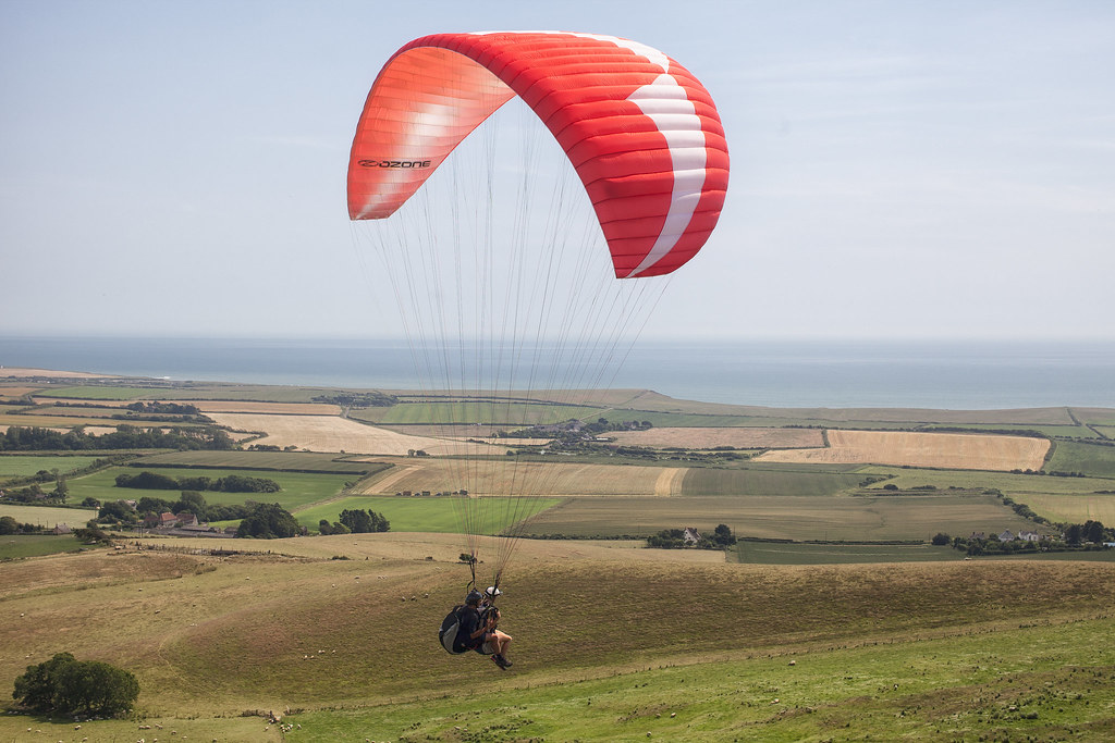 paragliding in cheverton one of the 18 best Isle of Wight activities image copyright of www.visitisleofwight.co.uk