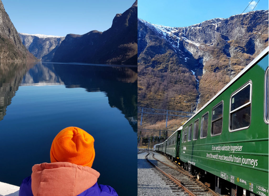Ferry and train travel to Vatnahalsen snowboard holiday in norway