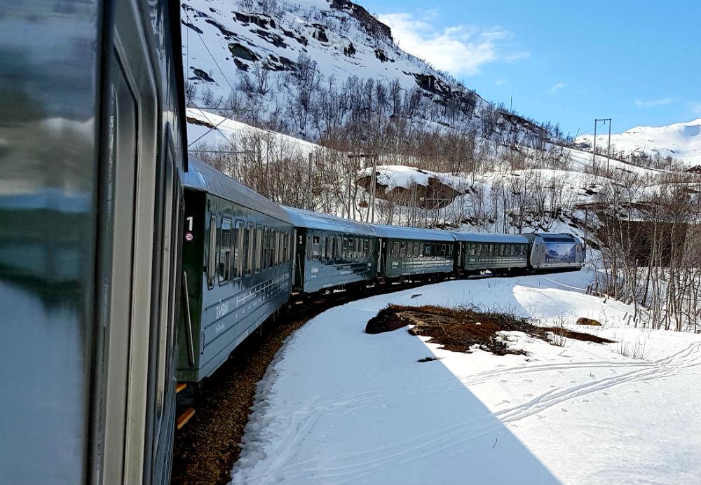 Flam railway to Vatnahalsen snowboard holiday in Norway